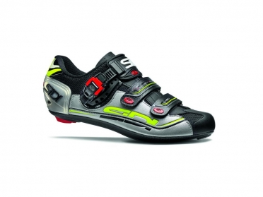 Sidi Genius 7 road shoe black/silver/yellow men