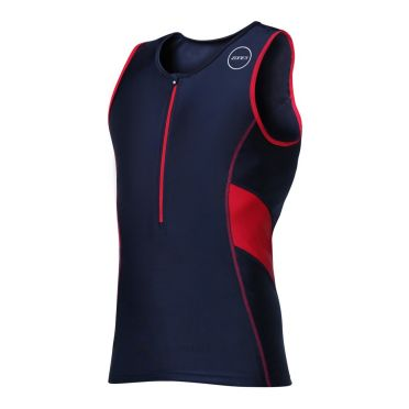 Zone3 Activate sleeveless tri top black/red men