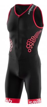 Sailfish Competition trisuit black-red men