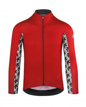 Assos Mille GT summer long sleeve cycling jersey red men