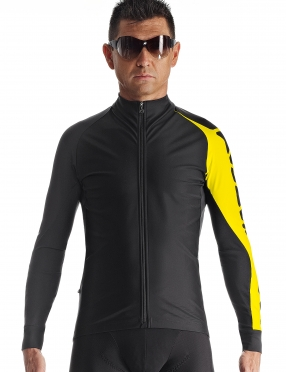 Assos Milleintermediate_evo7 cycling jacket blackyellow men