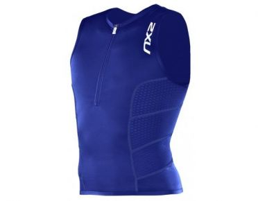 2XU Men's Comp Tri Singlet blue men