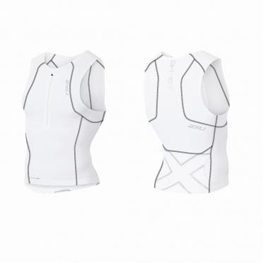 2XU GHST Tri singlet white/black men