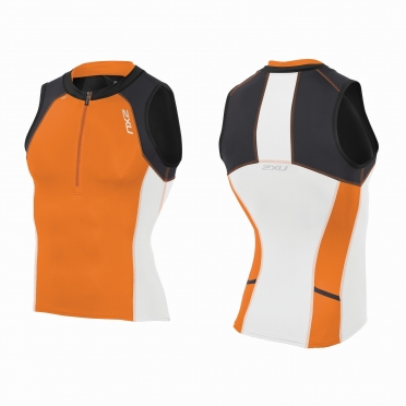 2XU Compression Tri singlet black/orange men