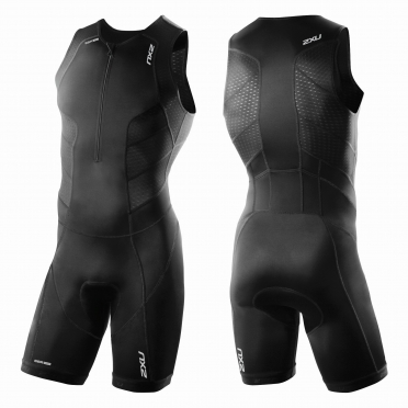 2XU Perform Front Zip trisuit black men