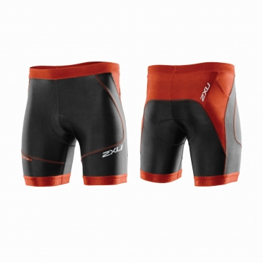 "2XU Perform 7"" Tri short orange/black men"