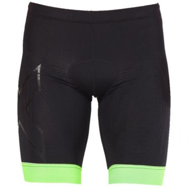 2XU Compression tri shorts black/green men