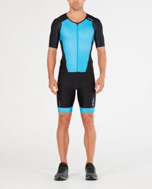 2XU Perform short sleeve trisuit black/blue men