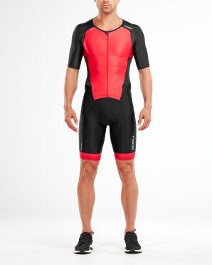 2XU Perform short sleeve trisuit black/red men