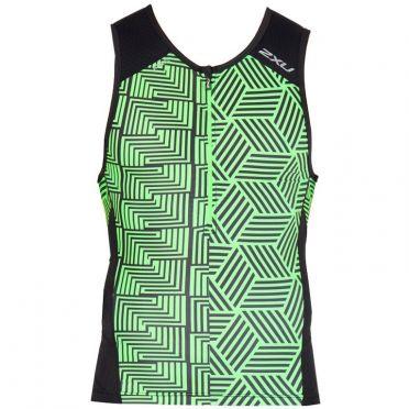 2XU Perform sleeveless tri top black/green men