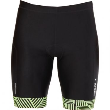 "2XU Perform 9"" tri shorts black/green men"