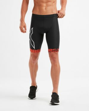 2XU Compression tri shorts black/red men