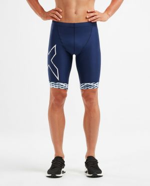 2XU Compression tri shorts blue/white men