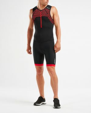 2XU Active sleeveless trisuit black/red men