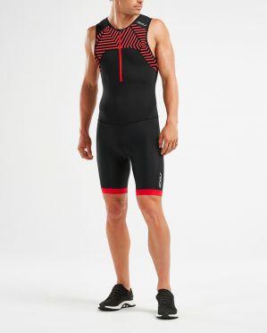 2XU Active sleeveless trisuit black/red men