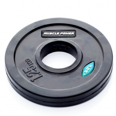 Muscle Power Olympic disc 1,25 kg rubber covered Ø 50 mm black