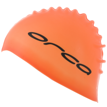Orca Silicone swim cap orange