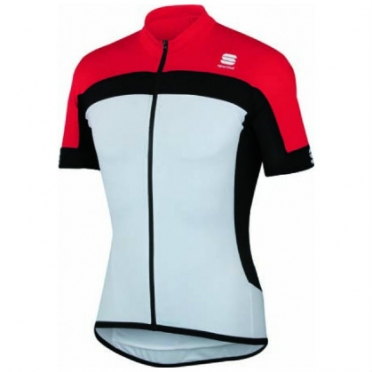 Sportful Pista cycling jersey white/red men