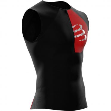 Compressport Postural sleeveless compression tri top black men