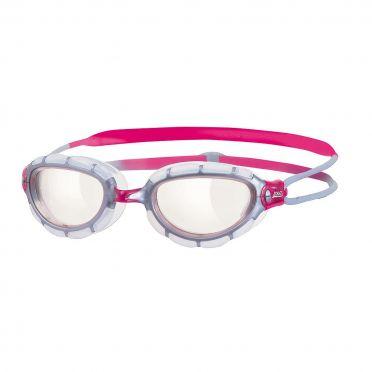 Zoggs Predator transparent lens goggles pink