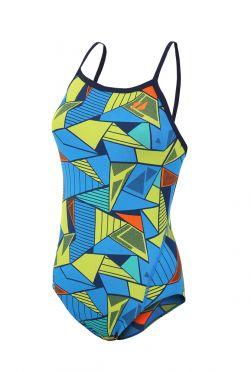 Zone3 Prism 2.0 Strap back swimsuit blue/yellow Women