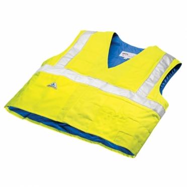 TechNiche HyperKewl evaporative cooling vest safety yellow