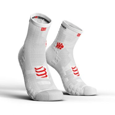 Compressport Pro racing v3.0 high running socks white