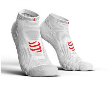 Compressport Pro racing v3.0 low running socks white