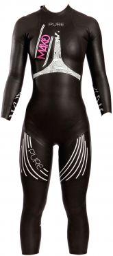 Mako Pure full sleeve wetsuit black/white women