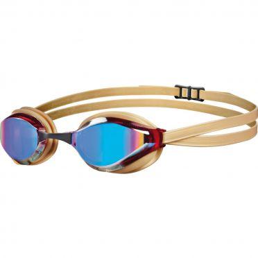 Arena Python mirror goggles gold