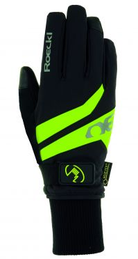 Roeckl Rocca GTX winter cycling glove black/yellow unisex