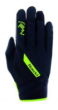Roeckl Renon winter cycling glove black/yellow unisex