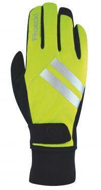 Roeckl Ravensburg winter cycling glove neon yellow unisex
