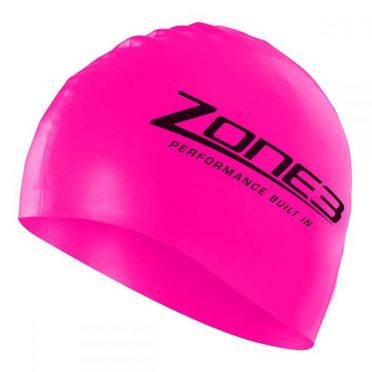 Zone3 Silicone swim cap pink