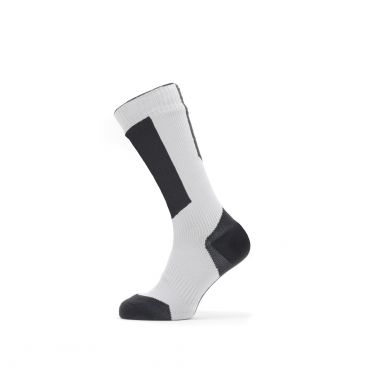 Sealskinz Cold weather mid cycling socks with Hydrostop black/white/yellow