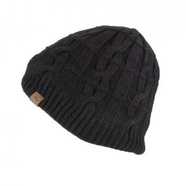 Sealskinz Cold Weather Cable knit beanie light black