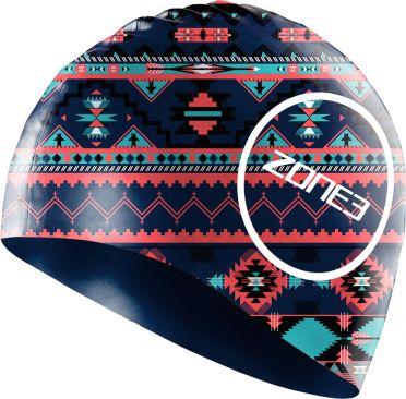 Zone3 Silicone swim cap aztec