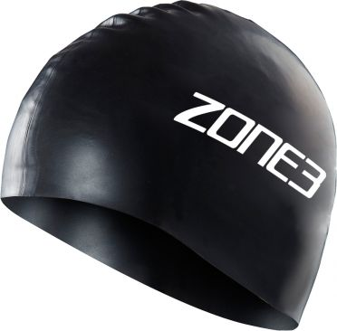 Zone3 Silicone swim cap black