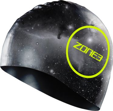 Zone3 Silicone swim cap cosmic