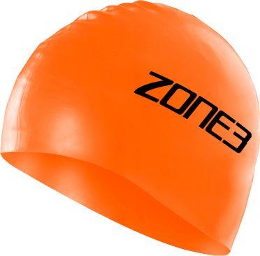 Zone3 Silicone swim cap orange