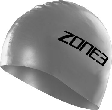 Zone3 Silicone swim cap silver