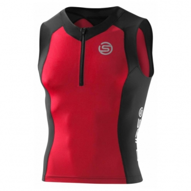 Skins TRI400 Compression Top Sleeveless men black/red