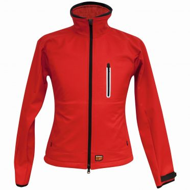 30Seven heated softshell jacket women's red