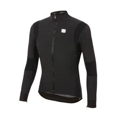 Sportful Aqua Pro cycling jacket long sleeve black men