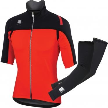 Sportful Fiandre Extreme SS Jacket black-red men