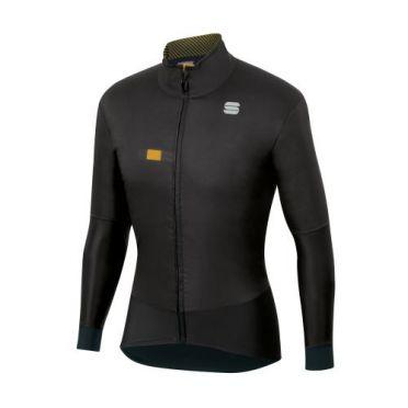 Sportful Bodyfit pro cycling jacket long sleeve black men