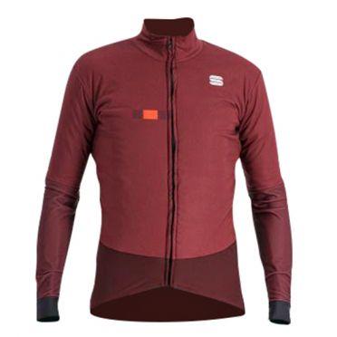 Sportful Bodyfit pro cycling jacket long sleeve red men
