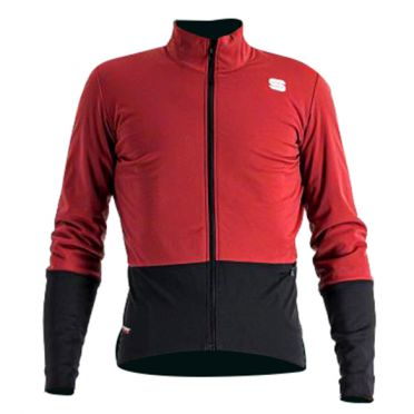 Sportful Total comfort cycling jacket long sleeve red men