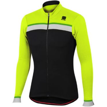 Sportful Pista thermal jersey black/yellow men