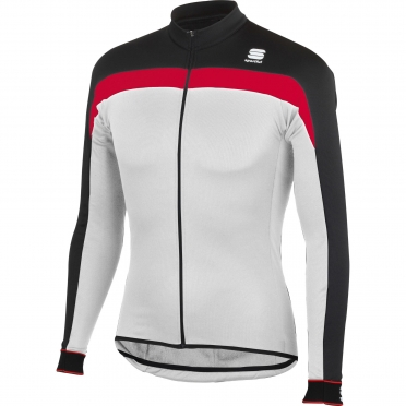 Sportful Pista Thermal Jersey white/red/black men 01152-102